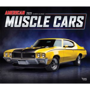 American Muscle Cars Deluxe Wall Calendar